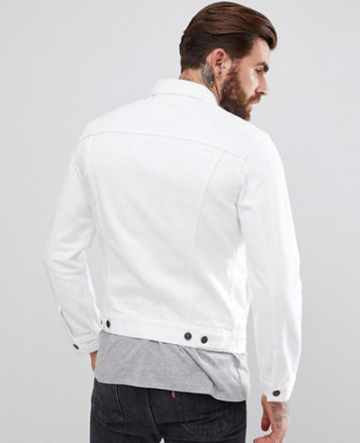 Denim Trucker Jacket White