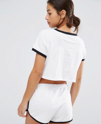 Exclusive White Short Body Crop Top