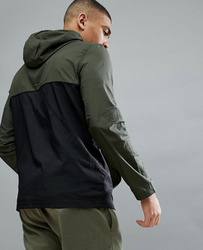 Fitness Baxter Water Resistant Windbreaker Jacket In Green