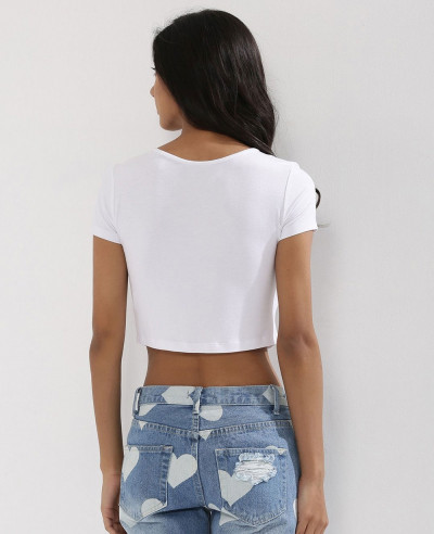 Front Keyhole Crop Top