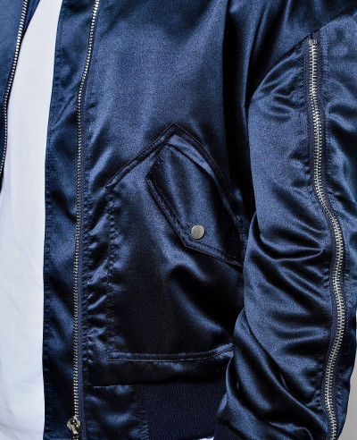 Full-Zipper-Though-Knitted-Varsity-Bomber-Jacket