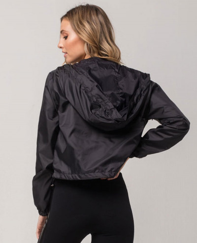 Full-Zipper-Women-Crop-Windbreaker-Jacket