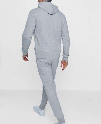 Grey Skinny Fit Zipper Through Tracksuit