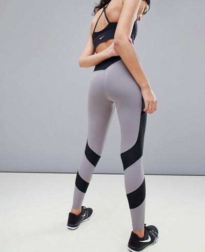 Gym Training Window Pane Legging In Grey