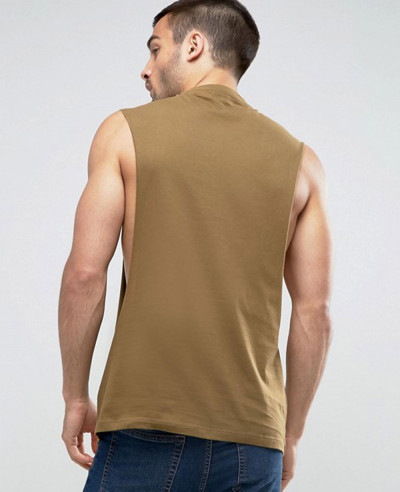 High Class Vest With Extreme Dropped Armhole Tank Top