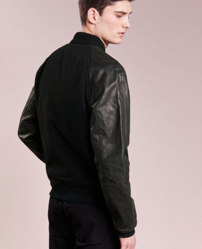 High-Custom-Made-Varsity-Bomber-With-Real-Leather-Sleeves-Bomber-Varsity-Jacket