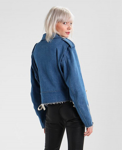 High Quality About Apparels Custom Made Blue Denim Jacket