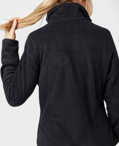 High Quality Black Full Zipper Micro Fleece Jacket