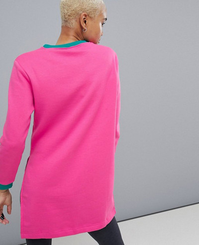 High-Quality-Custom-Fleece-Colorblock-Longline-Sweatshirt