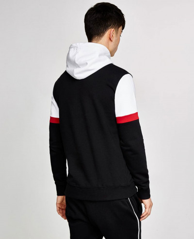 High Quality Men Black Hoodie
