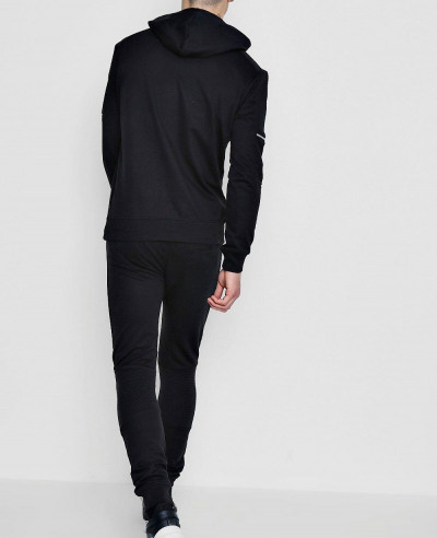 High Quality Men Black Skinny Fit Biker Tracksuit