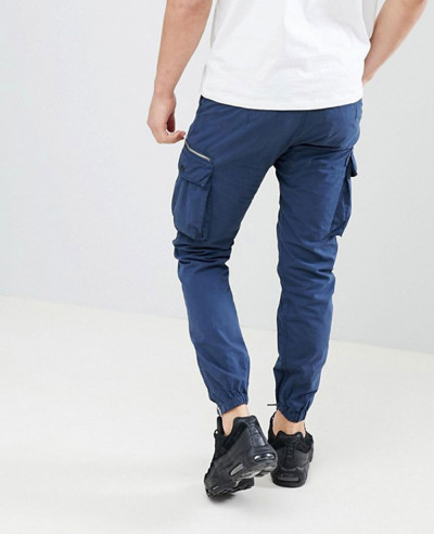High Quality Men Cargo Trousers In Blue