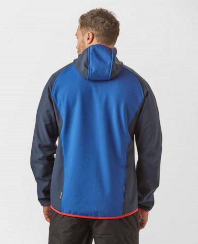 High Quality Men Custom Blue Block Colour Softshell Jacket