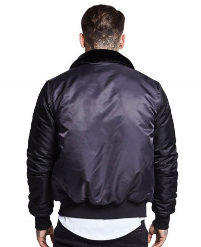 High Quality Men Satin Bomber Varsity Jacket