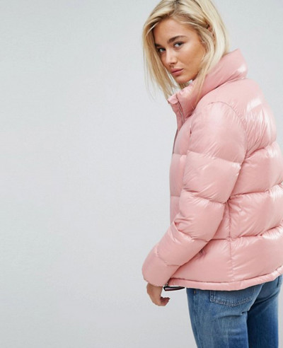High Shine Quilted Padded Down Jacket