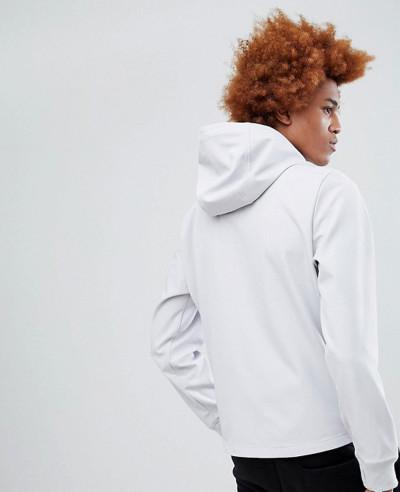 Hooded Softshell Jacket in Light Grey