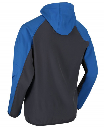 Hooded Softshell Jacket Oxford Blue Seal Grey