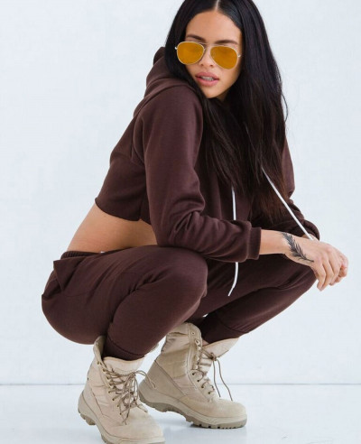 Hot & Sexy Women Most Selling Sweatsuit in Dark Brown