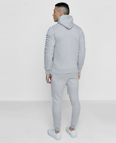 Hot-Seliing-Skinny-Fit-Biker-Zipper-Hooded-Tracksuit