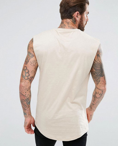Hot Selling Couture Muscle Sleeveless In Stone Tank Top