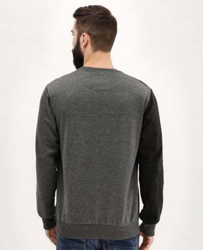 Hot Selling Men Colour Block Crew Neck Sweatshirt