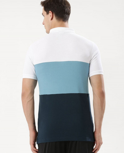 Hot Selling Men Colour Block Polo Shirt