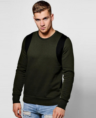 Hot Selling Men Custom Colour Block Sweater SweatShirt