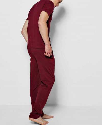 Hot Selling Men Jersey Trouser Pyjama Set