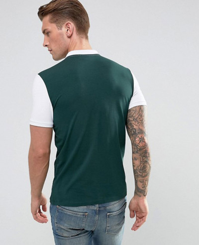 Hot Selling Men Muscle Fit Jersey With Contrast Polo Shirt