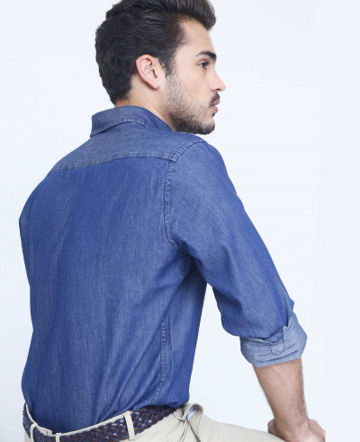 Hot Selling Men Stylish Denim Shirt