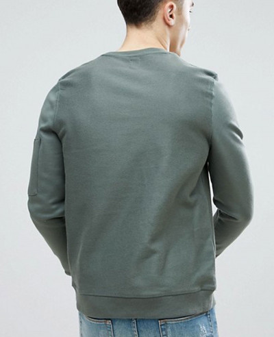 Hot-Selling-Men-Sweatshirt-With-Pocket-In-Khaki