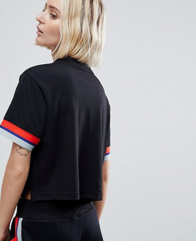 Hot-Selling-Retro-Trimmed-Polo-Shirt-In-Black