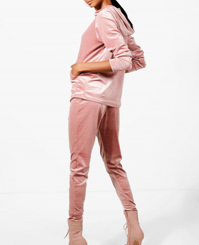 Hot Selling Velour Hooded Tracksuit