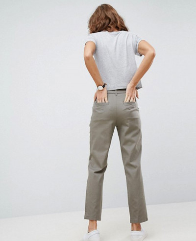 Hot-Selling-Women-Chino-Trousers-In-Slate-Grey