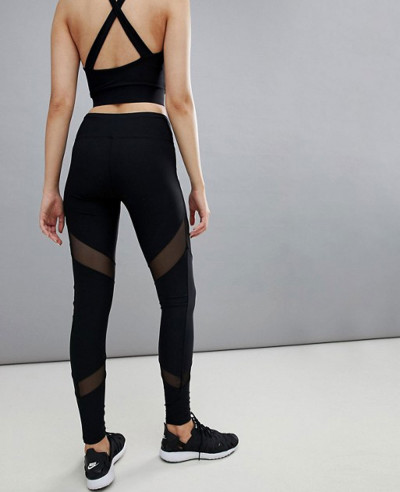 Hot Selling Women fashion Beach Mesh Insert Tight Leggings