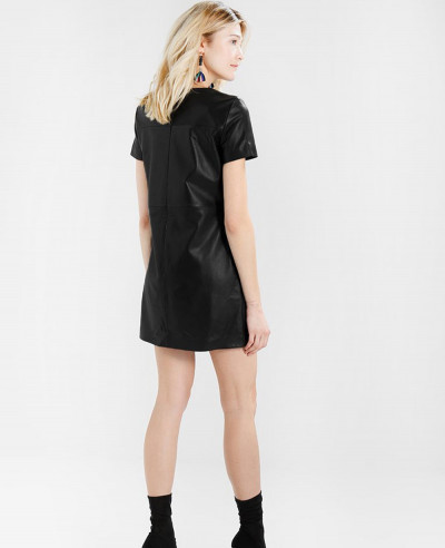Hot-Selling-Women-Leather-Dress