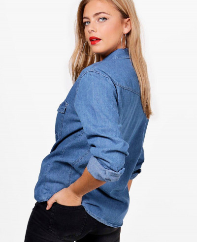 Hot-Women-Oversize-Denim-Shirt