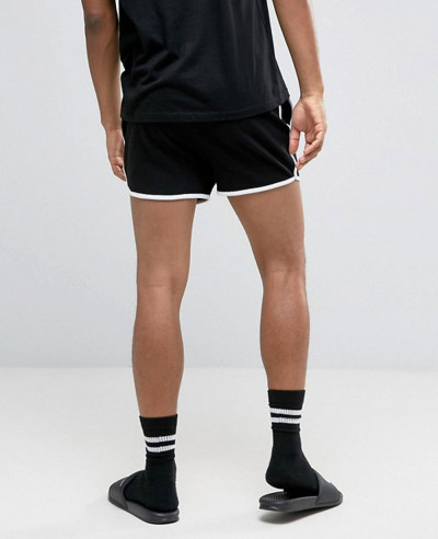 Jersey Runner Shorts In Black