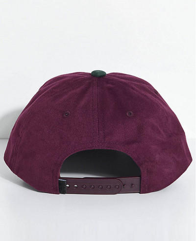 Jumble Burgundy & Green Six Panel Hat