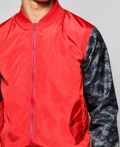 Lined-Nylon-Bomber-Jacket-With-Camo-Sleeves-Varsity-Jacket