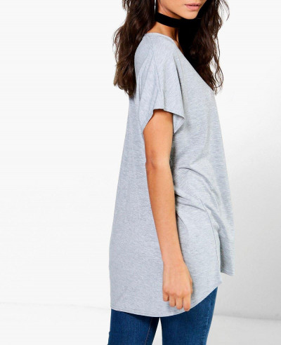 Longine Oversized Scoop Neck Tee