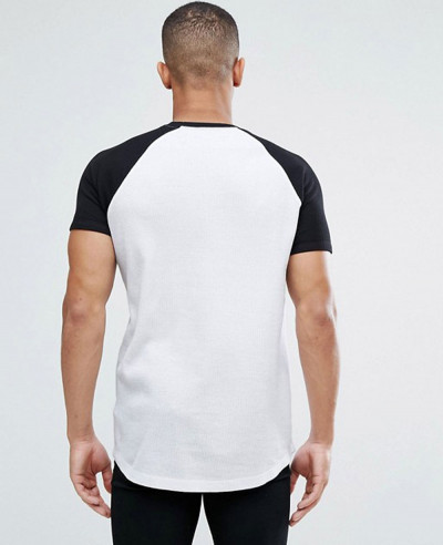 Longline-Muscle-With-Curved-Hem-And-Contrast-Raglan-Sleeves-T-Shirt