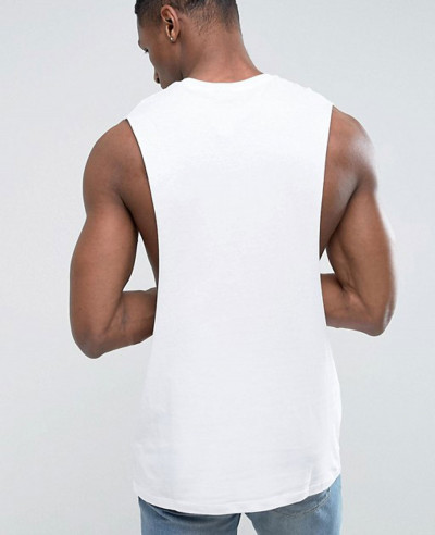 Longline Sleeveless With Extreme Dropped Armhole Tank Top