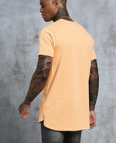Longline-Stepped-Curved-Hem-T-Shirt