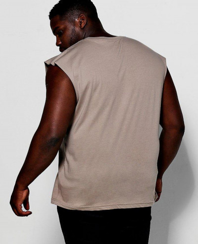 Men Big And Tall Basic Tank Vest