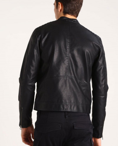 Men Biker Hot Selling Custom Faux Leather Jacket