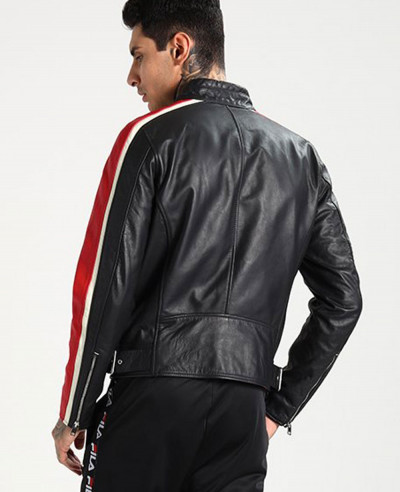 Men Biker Hot Selling Stylish Leather Jacket
