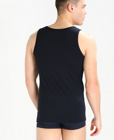 Men Black Sleeveless Stylish Tank Top