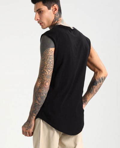 Men Black Tank Top Vest