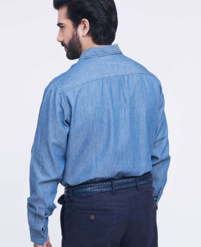 Men Blue Denim Shirts
